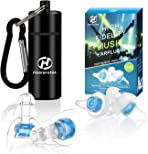 High Fidelity Concert Ear plugs, Hearprotek 20db Noise Reduction Music Earplugs-Hearing Protection for Musicians, DJ's, Drummers, Percussion, Festival, Nightclub and other Loud Events (Blue)