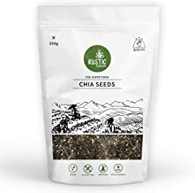 Rustic Nature Raw Chia Seeds Rich in Omega 3 for Weight Loss 250g