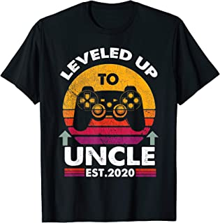 Leveled Up To Uncle 2020-Vintage Promoted to Uncle 2020 T-Shirt