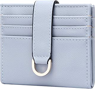 CILLA Bifold Coin Purse Small Wallet with Keyring Credit Card Holder for Women