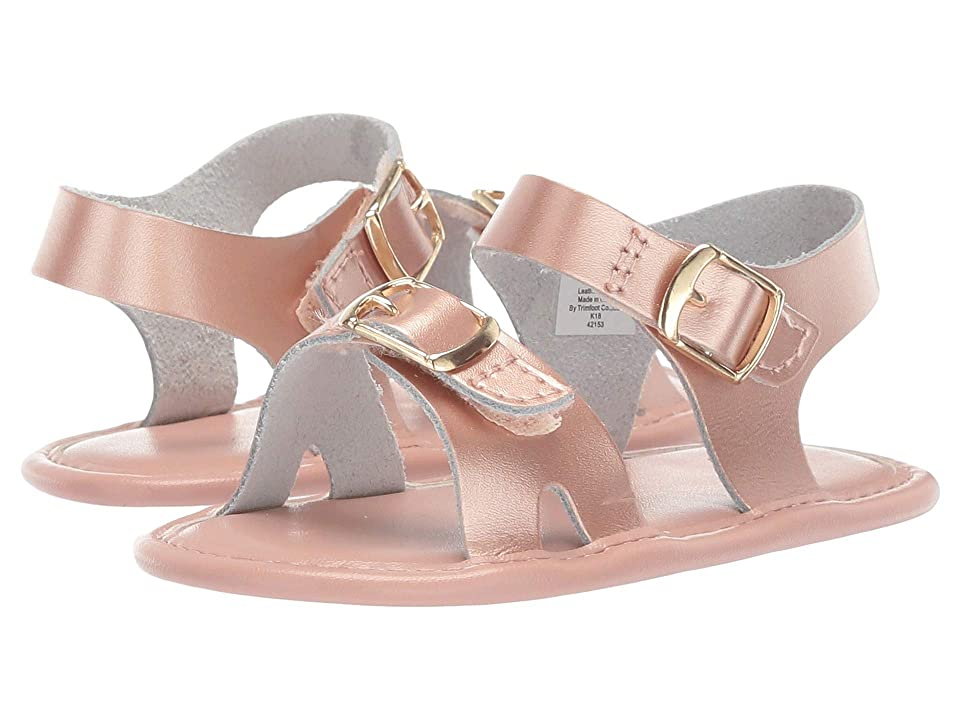 Baby Deer Classic Leather Sandal Waddle (Infant) (Rose Gold) Girls Shoes
