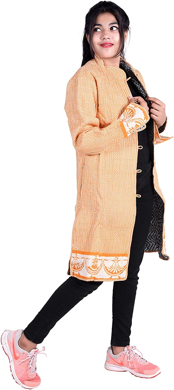 iinfinize Patchwork Waistcoat Pocket Vintage Denim Jacket Traditional Decorative Coat Outdoor Jacket Windbreakers Vintage Quilted Jacket Active Hoodies Track Jacket Size-M