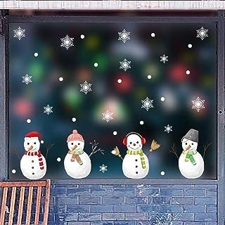 2pc Christmas Vinyl Fenêtre Sticker mural Sticker Décalque de neige amovible Accueil Décoration Accueil Décoration Accesso...