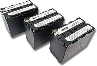 INTENSILO 3x Li-Ion batería 7800mAh (7.4V) para videocámara Sony (Hi8) CCD-SC5 CCD-SC55 CCD-SC65 por NP-F960 BP-10.