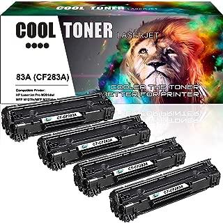 Cool Toner Compatible Toner Cartridge Replacement for HP 83A CF283A MFP M127fw for HP M225dn M201dw M127fw M125nw M225dw HP Laserjet Pro MFP M127fw M125nw HP Laserjet Pro M201dw Toner Ink Printer- 4PK