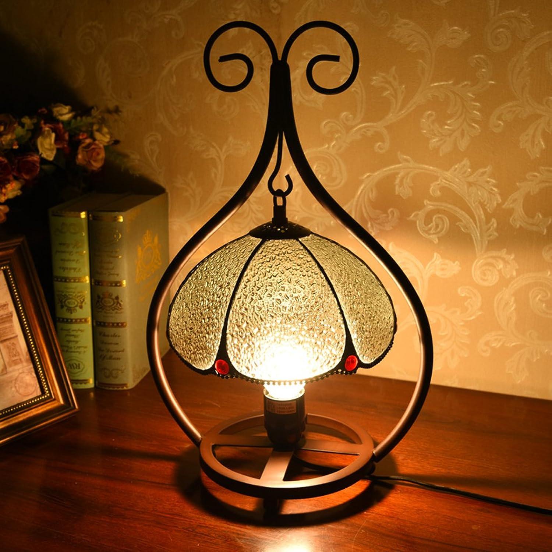 KK Amerikanische Retro Eisen Tischlampen Restaurant Cafes Bar Schlafzimmer Bedside Continental Pastorals Kreative Glas Tischleuchten B06X6JY34X     | Sale Outlet