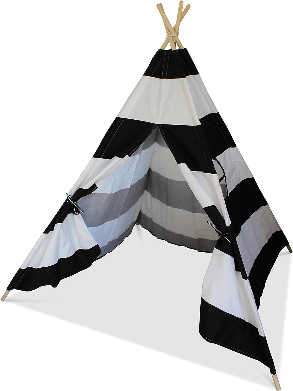 Black and White Striped Play Teepee   Wigwam   Tent
