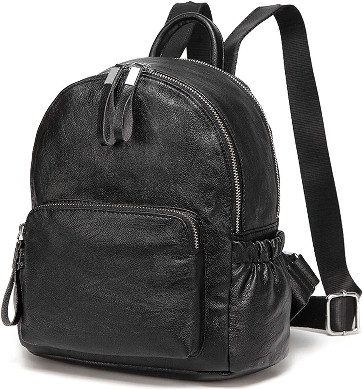 bluee Mini Backpack Small Backpack for Women Cute Backpack Bag Pack PU Leather Black