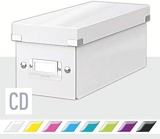 Leitz Caja para Guardar CDs, Blanco, Gama Click & Store, 60410001