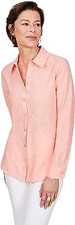 Foxcroft Women's Jordan Non-Iron Linen Shirt Shirt