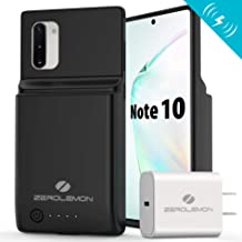 ZEROLEMON Galaxy Note 10 Battery Case 8600mAh, Android Auto & Samsung Dex & Qi Wireless Charging & Fast Charging Supported, UltraPower Extended Battery Charger Protective Case for Galaxy Note 10-Black