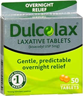 Dulcolax Laxative Tablets 50 ea (Pack of 6)