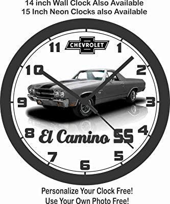 amazon 1984 chevrolet corvette wall clock home kitchen 1965 Chevy Stingray 1970 chevrolet el camino ss ls6 wall clock