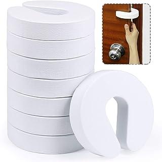 ギノヤ ピンチガード, 8枚入り 2cm厚いドアストッパークッション 指を挟む防止 (白い)