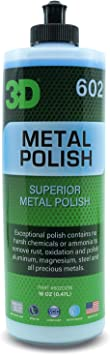3D Metal Polish - Heavy Duty All Purpose Metal Polish & Aluminum Restorer - Clean, Protect & Shine 16oz.: image