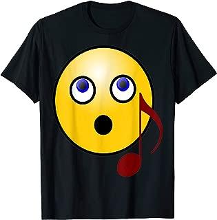 Singing Smiley Face Emoji Music Note T Shirt 2