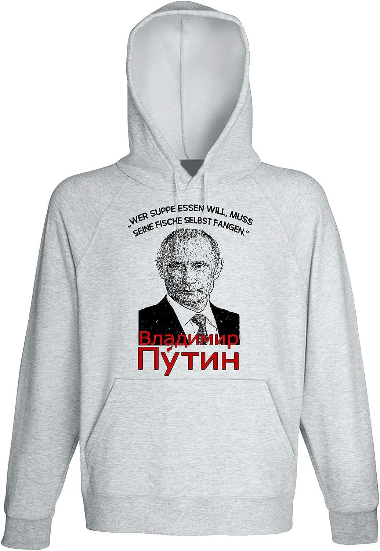 teesquare1st Vladimir Putin Wer Suppe Sudadera con Capucha ...