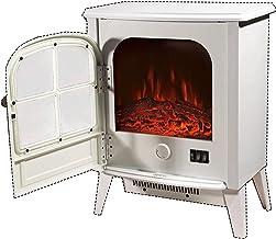 XCJ Chimenea electrica Estufa Eléctrica Chimenea Eléctrica 1800W Flame Llama Decorativa Chimenea Independiente Calefactor Chimenea (Color : White)