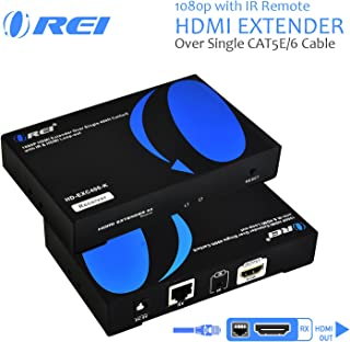 OREI HDMI Extender Over Single CAT5e/CAT6 Cable One to Many Multiple Display Matrix 1080P with IR Remote - Up to 400 Ft - ProLNK Tecnhology