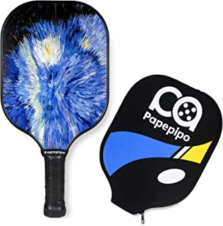 Pickleball Paddle Set of 2 or Single,Pickleball Racket Graphite Carbon Surface,Racquet with Cover Case,Polypro or Aramid Honeycomb Composite Core,Ultra Cushion Grip,Rackets Set for Beginner&Pro