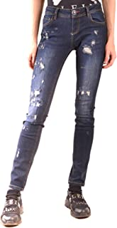 PHILIPP PLEIN Luxury Fashion Womens MCBI38627 Blue Jeans | Season Outlet
