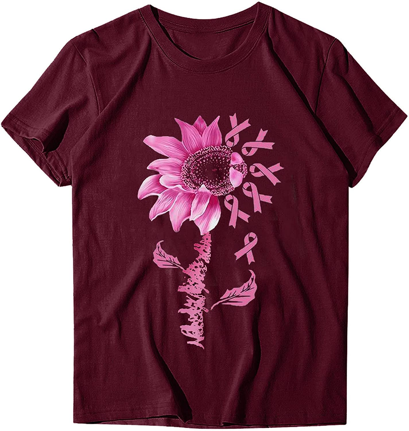 ManxiVoo Women's Tops Max 67% OFF Casual Short New product Sleeve P Tee Shirt Printing T