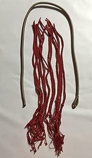 Nylon Gray Fall Kit Plus an Additional 12 RED String Cracker Popper for bullwhip