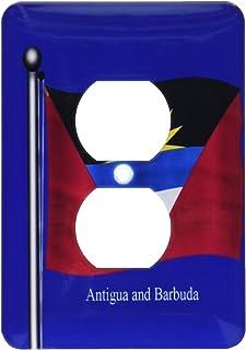3dRose lsp_63226_6 - Funda para 2 enchufes de la bandera de Antigua y Barbuda