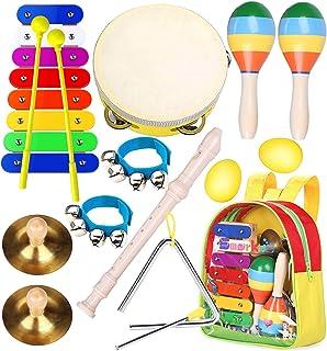 Instruments de Musique pour Enfants Professionnel, Smarkids Jouets Musicaux Educatifs Bois Percussion pour Bébé avec Xylop...