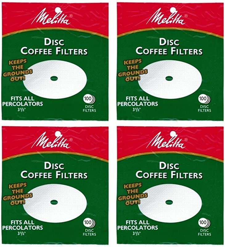 Melitta 3 5 Inch White Disc Coffee Filters Pack Of 4