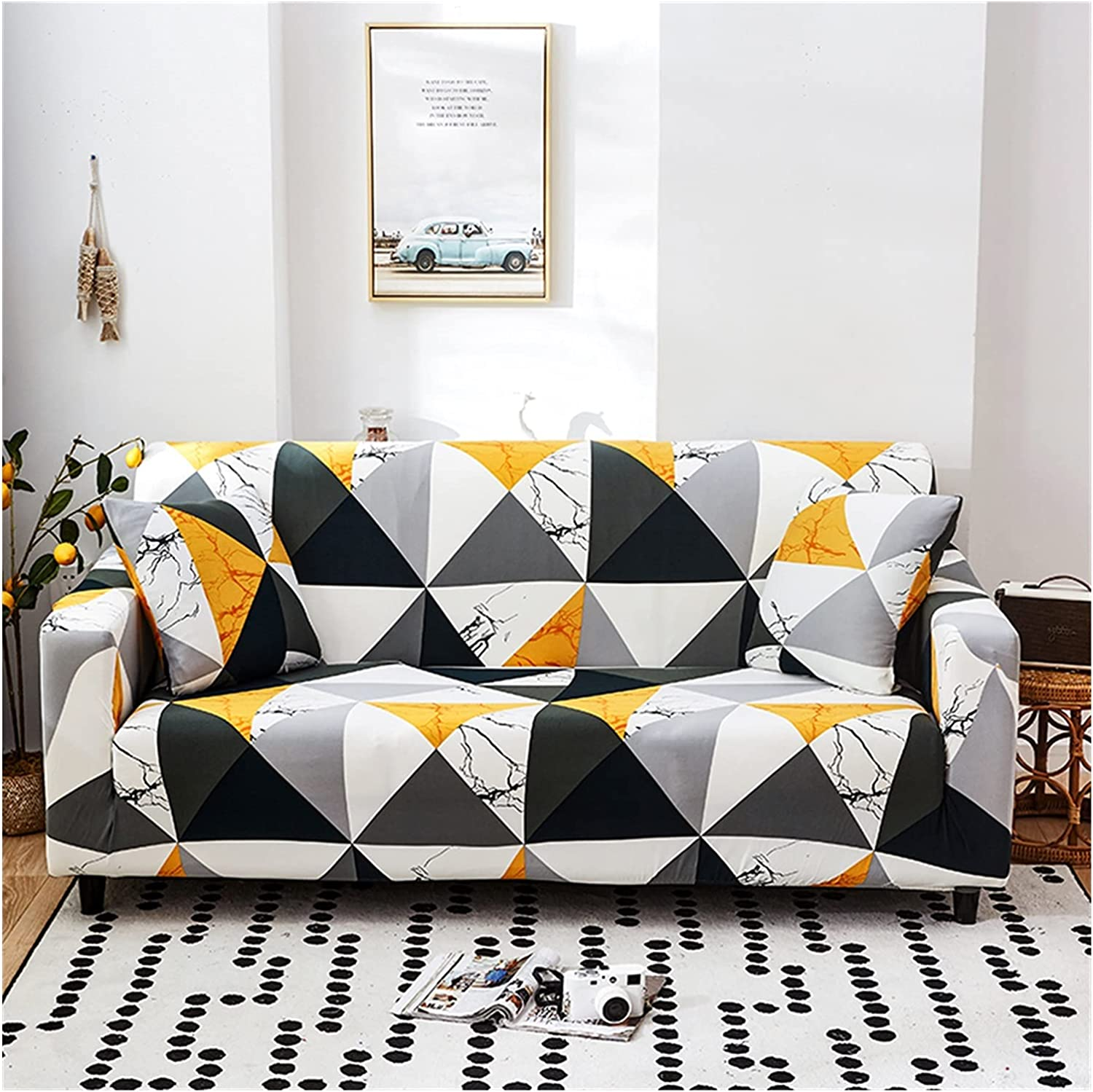 MGGZ Geometry free Spring new work Plaid Sofa Cover Stretch Slipcovers fo Covers