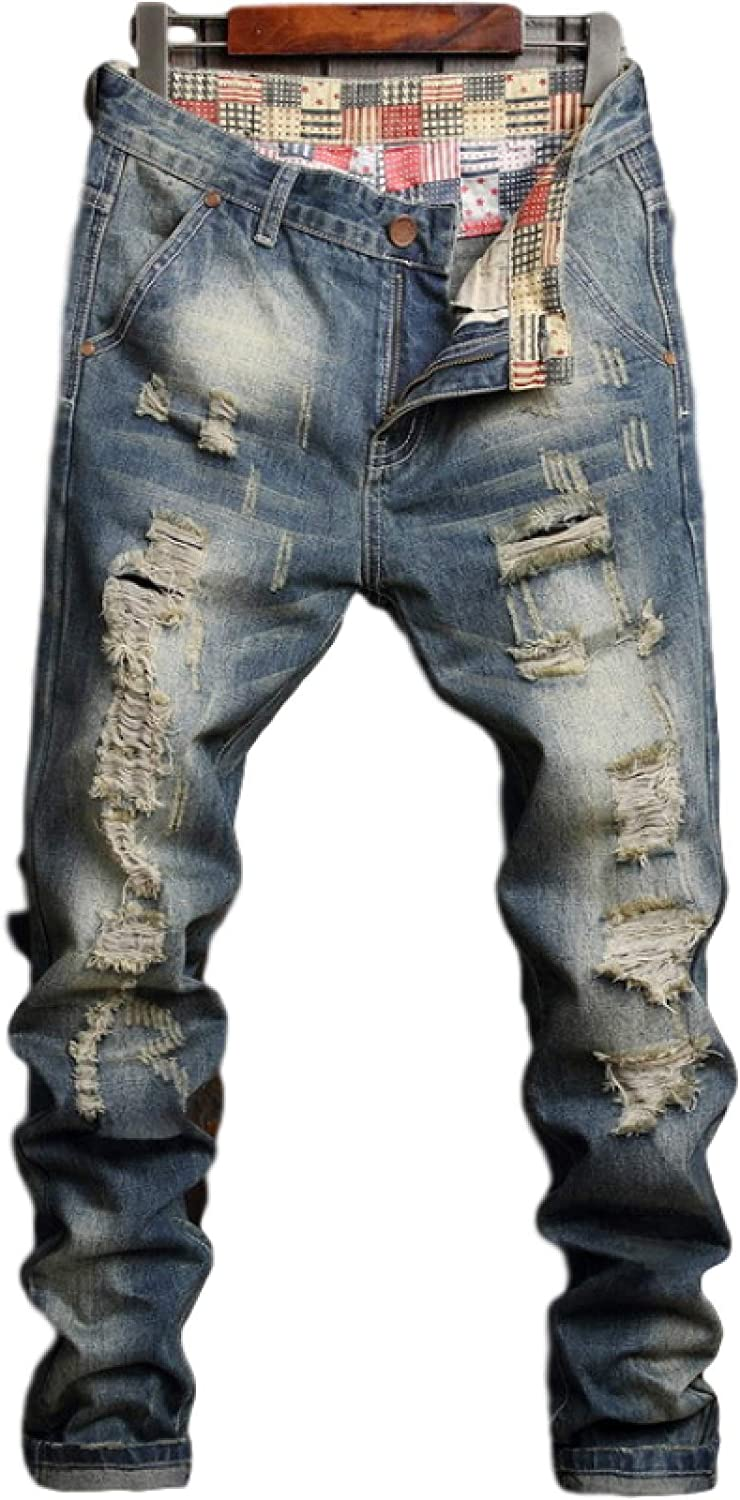 Men's Denim Trousers European and Fashion S American Personality Limited Max 44% OFF price