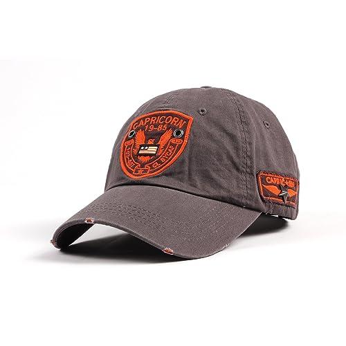 WITHMOONS Gorras de béisbol gorra de Trucker sombrero de Baseball Cap Distressed Trucker Cap Eagle Patch