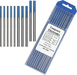 Tig Welding Tungsten Electrodes, 2% Lanthanated Blue Tungsten Assorted Welding Rods-Blue 5PCS 3/32