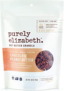 purely elizabeth Non GMO Organic Chocolate Sea Salt Peanut Butter Granola, 10 Ounce