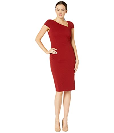 Adrianna Papell Ottoman Sheath Dress (Autumn Blaze) Women