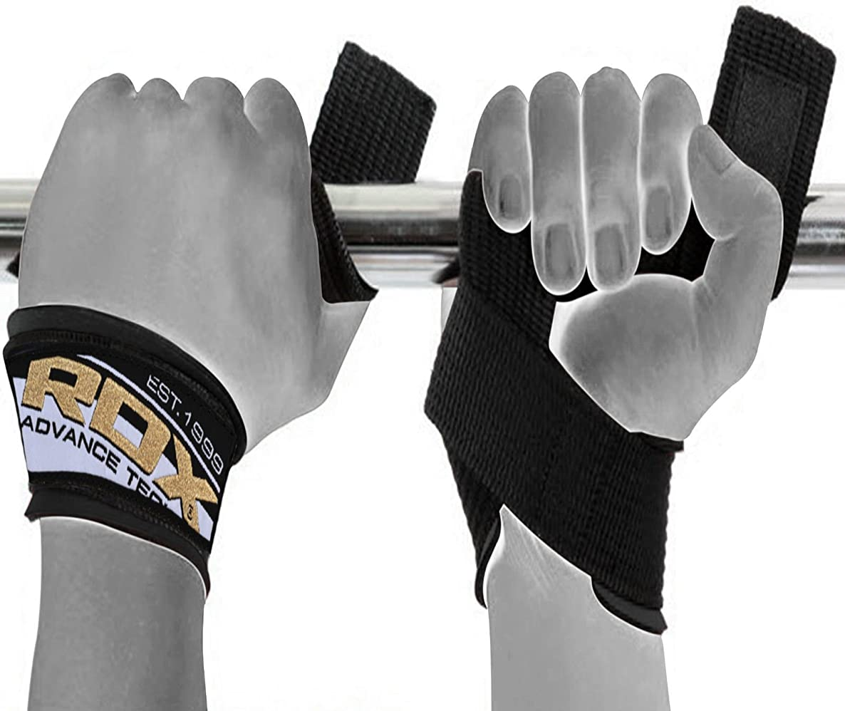 RDX Weight Lifting Strap Gym Bodybuilding Straps Wrist Wraps Hand Bar Training Workout (Sold AS Pair)
