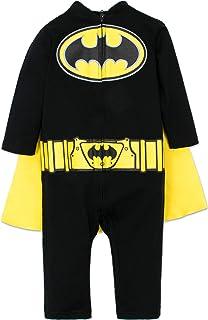 Warner Bros. Warner Bros. DC Comics Batman Strampler für Kleinkinder, Strampelanzug für kleine Helden mit Umhang, 18 Monate