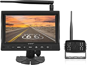 $149 » HD1080P Digital Wireless Backup Camera System for Trucks Cars SUVs Pickups Vans Campers 7inch LCD Monitor with Front/Rear ...