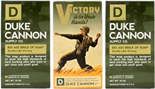 Duke Cannon Limited Edition WWII Era Big Brick of Soap for Men, 10oz - Victory (3 Pack)