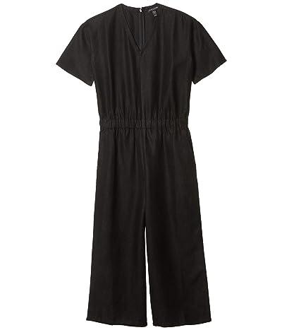 Eileen Fisher Petite V-Neck Jumpsuit (Black) Women