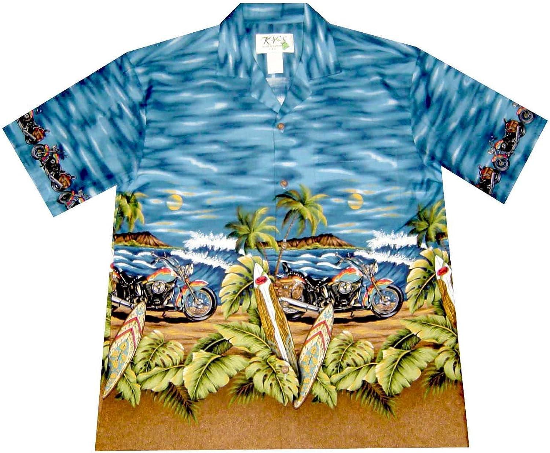 Harley DAVIDASON Monstera Leaf Motorcycle Max 58% OFF Biker Shirt Aloha Sale price