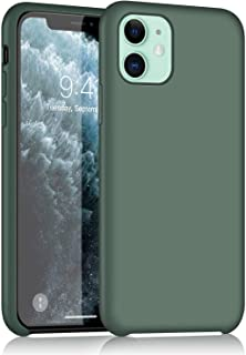 iPhone 11 Silicone Case, XSHNUO Liquid Silicone Gel Rubber Ultra Thin Case with Soft Microfiber Cloth Lining Cushion for iPhone 11 (2019) 6.1 inch (Pine Green)