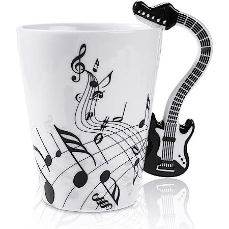 12 9 Oz Musical 3d Handle Mug Music Note Coffee Mugs Ceramic Music Cup Mug For Music Players Musicians Black Kitchen Dining