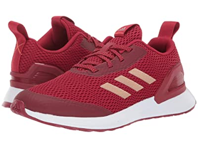adidas Kids RapidaRun X (Big Kid) (Maroon/Copper/Coral) Girls Shoes