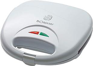 Bomann ST 5016 CB Tosti-oaster, 3-hoekige sandwichplaten, automatische temperatuurregelaar, met 2 controlelampjes, anti-aa...