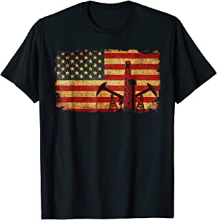 Vintage US Flag Oilfield Trash Shirt Oilfield t-shirt