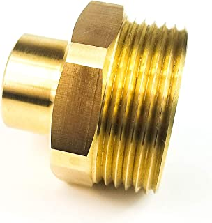 Metalware Solutions Solid Brass Fire Nozzle Adapter 1-1/2