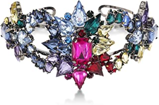 Steve Madden Womens Rainbow Rhinestone Star Cluster Cuff Bracelet