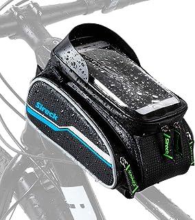 Sireck Phone Holder Bike Bag, Waterproof Top Tube Bicycle...